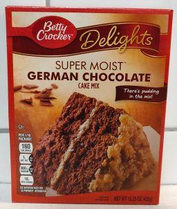 Betty Crocker Delights Super Moist German Chocolate Cake Mix 432gr