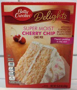 Betty Crocker Delights Super Moist Cherry Chip Cake Mix 432gr