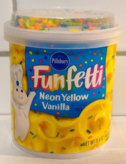 Pillsbury Frosting Funfetti Neon Yellow Vanilla 442gr