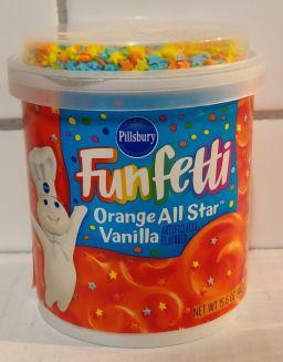 Pillsbury Frosting Funfetti Orange All Star Vanilla 15.6oz (442g)