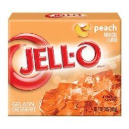 Jello Gelatin Peach Powder 3oz (85g)