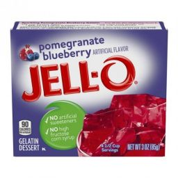 Jello Gelatin Pomegranate Blueberry 85gr