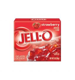Jello Gelatin Strawberry Powder 3oz (85g)