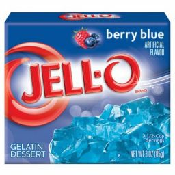Jello Gelatin Berry Blue Powder 3oz (85g)