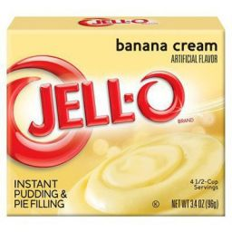 Jello Instant Pudding Banana Cream 3.4oz (96g)