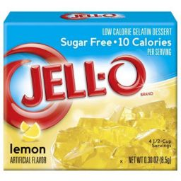 Jello Gelatin Sugar Free Lemon Powder 85gr