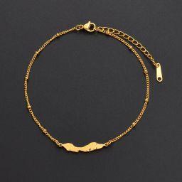 Jewelry Bracelet Curacao Gold Color 18cm+5cm