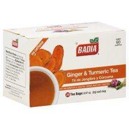 Badia Ginger & Turmeric Tea - 25 stuks