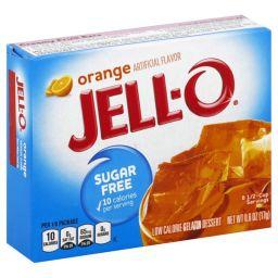 Jello Gelatin Sugar Free Orange Powder 0.3oz (8.5g)