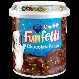 Pillsbury Frosting Funfetti Chocolate Fudge 15.6oz (442g)