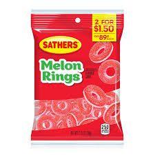 Sathers Gummallos Melon Rings 2.75oz (78g)