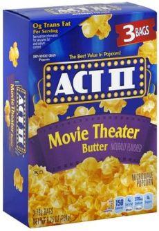 ACT II Movie Theater Butter 3 stuks