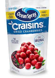Ocean Spray Craisins Dried Cranberries 6oz (170g)