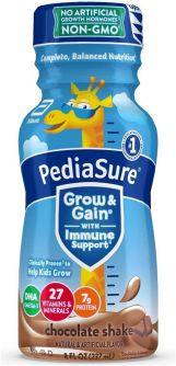 PediaSure Grow & Gain with Immune Support Chocolate Shake 8oz (237ml)