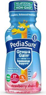PediaSure Grow & Gain with Immune Support Strawberry Shake 8oz (237ml)
