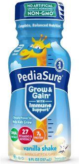 PediaSure Grow & Gain with Immune Support Vanilla Shake 8oz (237ml)
