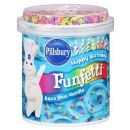 Pillsbury Frosting Funfetti Aqua Blue Vanilla 15.6oz (442g)
