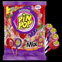Pin Pop Lolly's Mix Assorted 408gr 24stuks
