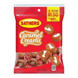 Sathers Caramel Creams 57gr