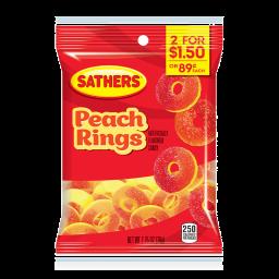 Sathers Gummallos Peach Rings 2.75oz (78g)