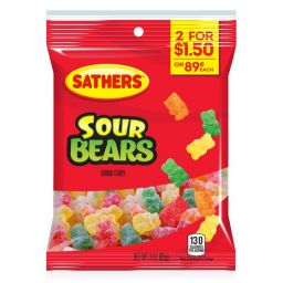 Sathers Sour Gummi Bears 85gr
