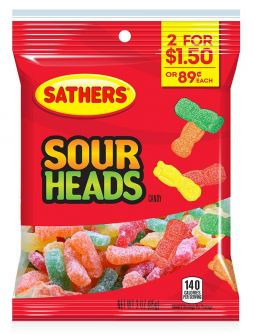 Sathers Sour Heads 3oz (85g)
