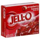 Jello Gelatin Strawberry - Banaan Powder 3oz (85g)